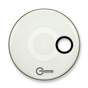 AQUARIAN RSM18WH Regulator Off-Set Hole Gloss White 18""