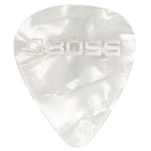 BOSS BPK-12-WT Celluloid White Pearl Heavy 12ks