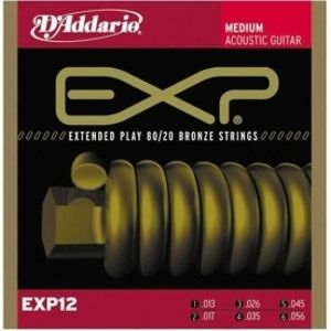 D'ADDARIO EXP12 80/20 Acoustic Bronze Super Medium - .013 - .056