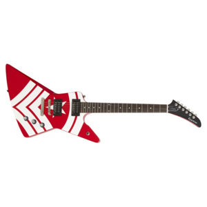 EPIPHONE Limited Edition Jason Hook M-4 Explorer Outfit Red on White Graphics