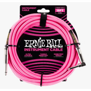 ERNIE BALL P06083 Braided Cable 18 SA Neon Pink