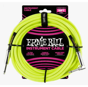 ERNIE BALL P06085 Braided Cable 18 SA Neon Yellow