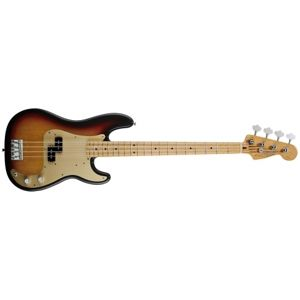 FENDER 50s Precision Bass®, Maple Fretboard, 2-Color Sunburst, Gold Anodized Aluminum Pickguard