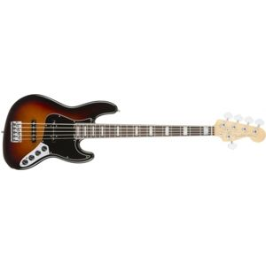 FENDER American Elite Jazz Bass V 3-Tone Sunburst Ebony