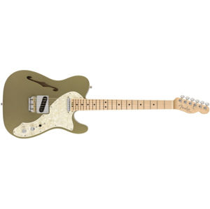 FENDER American Elite Telecaster Thinline Satin Jade Pearl Metallic Maple
