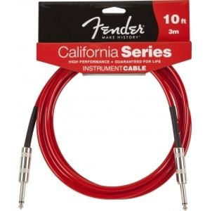 FENDER California Instrument Cable - Candy Apple Red 3m