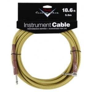 FENDER Custom Shop Performance Series Cable, 18.6',Angled,  Tweed