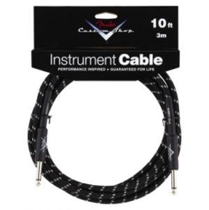 FENDER Custom Shop Performance Series Cable, 20', Black Tweed