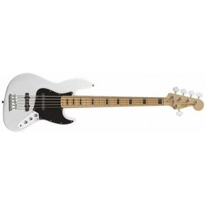 FENDER SQUIER Vintage Modified Jazz Bass 5 String, Maple Fingerboard - Olympic White