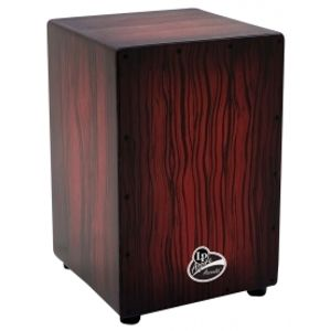 LATIN PERCUSSION Aspire Accents Cajon - Dark Wood Streak