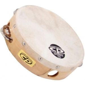 LATIN PERCUSSION CP376 6 Wood Headed Tambourine with Single Row Jingles