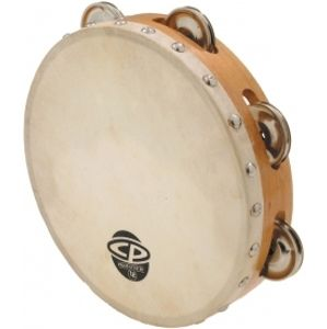 LATIN PERCUSSION CP378 8 Wood Headed Tambourine with Single Row Jingles
