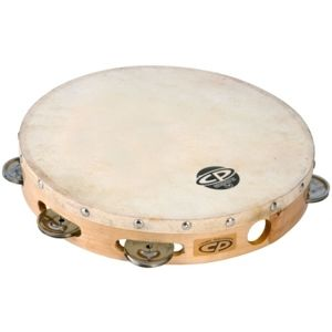 LATIN PERCUSSION CP379 10 Wood Headed Tambourine with Single Row Jingles