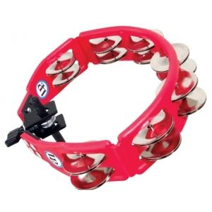 LATIN PERCUSSION Cyclops® Jingle Tambourína - Steel/Red/Mountable