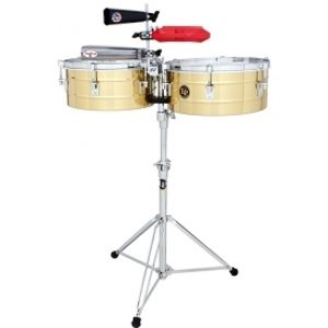 LATIN PERCUSSION LP257-B Tito Puente 14 and 15 Timbales Brass