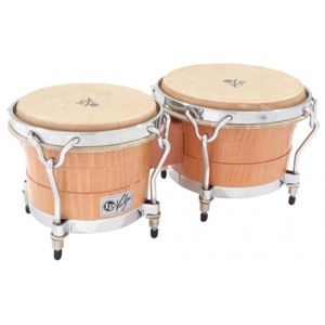 LATIN PERCUSSION Valje Bongos - Beech Wood - Chrome
