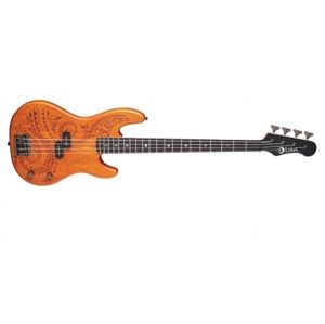 LUNA GUITARS Tattoo Electric Bass LC