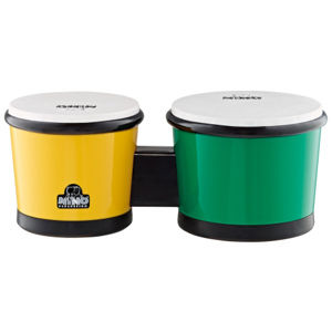NINO PERCUSSION NINO19G/Y ABS Bongo - Green/Yellow