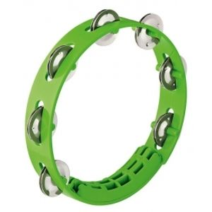 NINO PERCUSSION NINO49GG Compact ABS Tambourine - Grass-Green