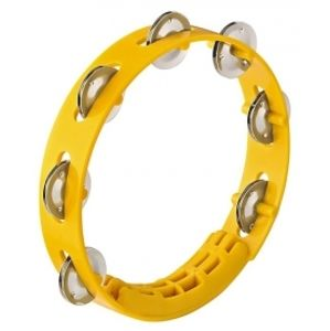 NINO PERCUSSION NINO49Y Compact ABS Tambourine - Yellow