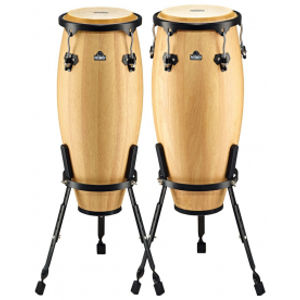 NINO PERCUSSION NINO910NT Wood Conga Set - Natural
