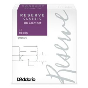 RICO DCT10405 Reserve Classic - Bb Clarinet Reeds 4.0+ - 10 Box