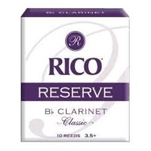 RICO RCT10355 Reserve Classic - Bb Clarinet Reeds 3.5+ - 10 Box