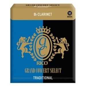 RICO RGC10BCL300 - Grand Concert Select Traditional - Bb Clarinet Reeds 3.0 - 10 Box