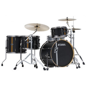 TAMA ML40HZBN2-FBV Superstar Hyper-Drive Duo - Flat Black Vertical Stripe
