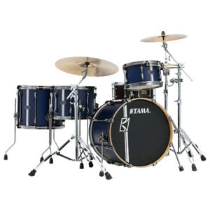 TAMA ML40HZBN2-SBV Superstar Hyper-Drive Duo - Satin Blue Vertical Stripe